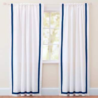 Pottery Barn Teen Suite Ribbon Drape With Blackout, 84&quot, Royal Navy