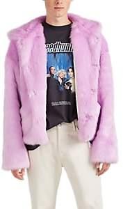 LANDLORD Men's Faux-Fur Hooded Jacket - Purple