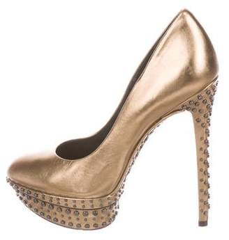 Brian Atwood Studded Metallic Pumps