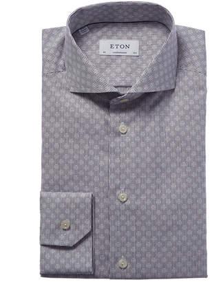 Eton Contemporary Fit Micro Pattern Dress Shirt