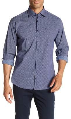 Stone Rose Teardrop Print Slim Fit Shirt