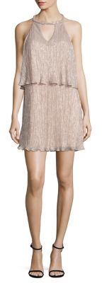 Ella Moss Cerine Metallic Tiered Keyhole Dress $228 thestylecure.com