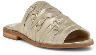 Kelsi Dagger Brooklyn Slope Metallic Leather Slide Sandal