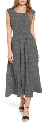 Chaus Dot Side Ruched Maxi Dress