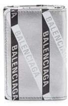Balenciaga Everyday Metallic Logo Mini Wallet