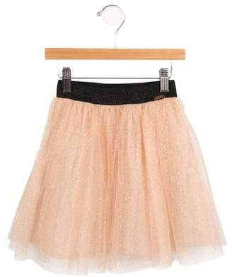 Junior Gaultier Girls' Metallic Tulle Skirt w/ Tags