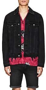 Ksubi Men's Classic Distressed Denim Jacket-Black