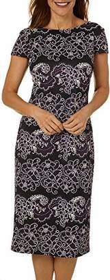 Ronni Nicole Women's Ruffle Sleeve Plaid