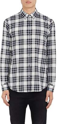 Theory Men's Plaid Herringbone-Weave Cotton Shirt