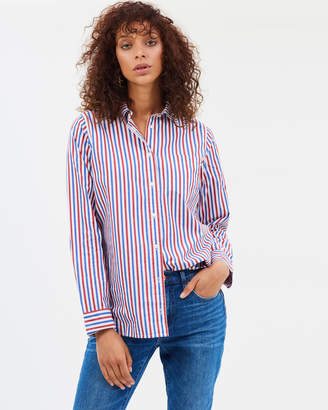 J.Crew Boy Shirt in Trifecta Stripe