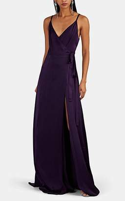 Azeeza Women's Evie Silk Wrap Gown - Purple