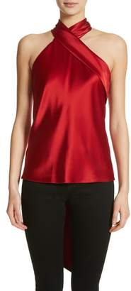 GALVAN Halter Neck Satin Top