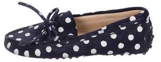 Tod's Boys' Suede Polka Dot Loafers
