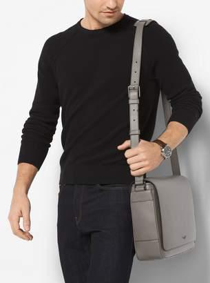 Michael Kors Bryant Large Leather Messenger
