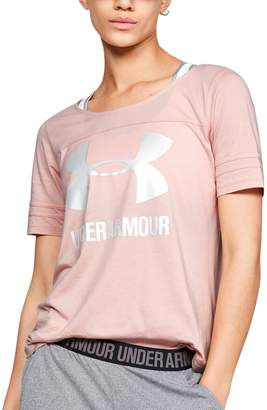Under Armour Women's Sportstyle Logo Baseball Tee