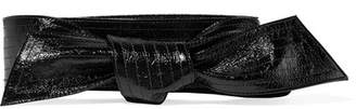Givenchy Textured Patent-leather Waist Belt - Black