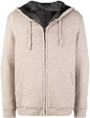 Liska weasel fur lined hoodie