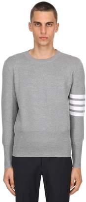 Thom Browne Intarsia Stripes Wool Milan Knit Sweater