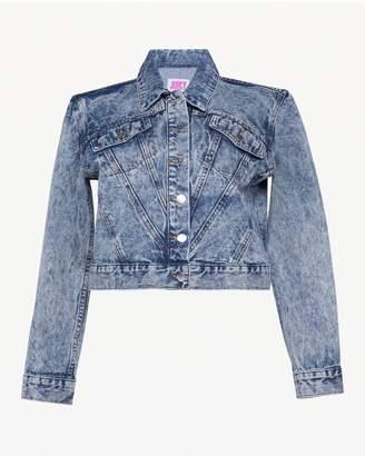 Juicy Couture JXJC Studded Acid Wash Denim Jacket