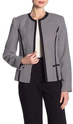 Kasper Patterned Fly Away Tweed Blazer