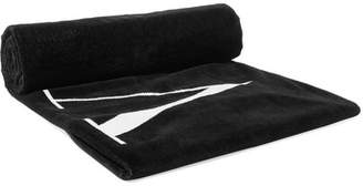 Valentino Printed Cotton-terry Towel - Black