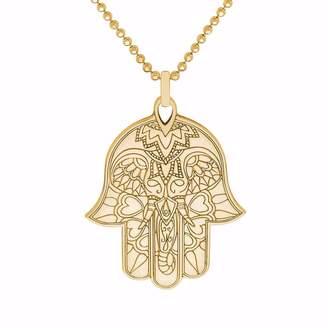 CarterGore - Gold Hamsa Hand Pendant Necklace