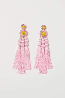 H&M Tasseled Earrings - Pink