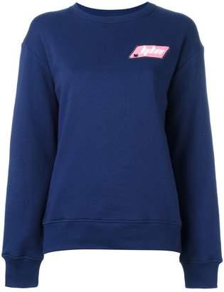 Au Jour Le Jour logo patch sweatshirt