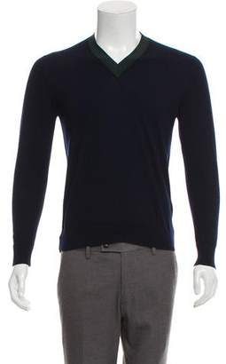 Christian Dior Virgin Wool V-Neck Sweater