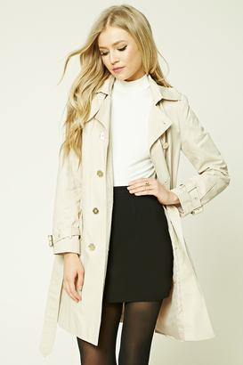 FOREVER 21+ Double-Breasted Trench Coat $47.90 thestylecure.com