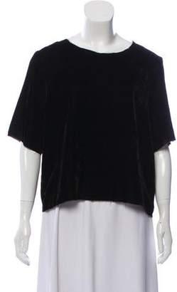 Raquel Allegra Velvet Short Sleeve Top
