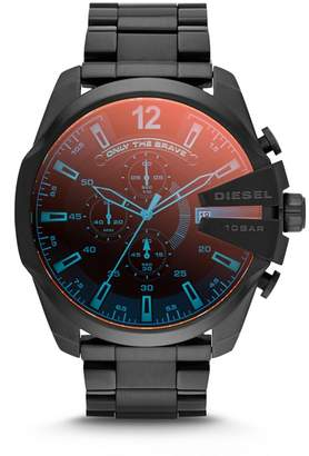 Diesel - Men's Black 'Mega Chief' Bracelet Watch