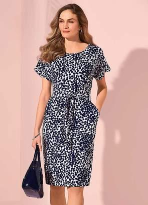 Kaleidoscope Tie Jersey Dress