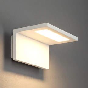Weiße LED-Außenwandleuchte Caner