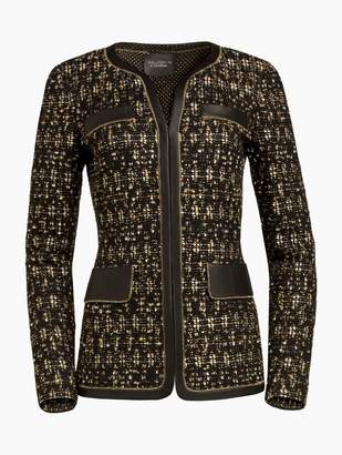 St. John Gilded Eyelash Patterned Knit Jacket