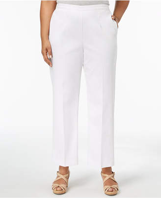 Alfred Dunner Barcelona Plus Size Pull-On Straight-Leg Pants