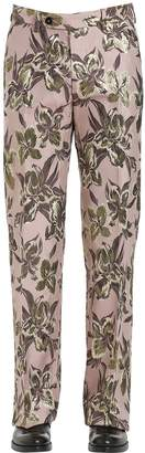 Christian Pellizzari 27cm Lurex Floral Jacquard Pants For Lvr
