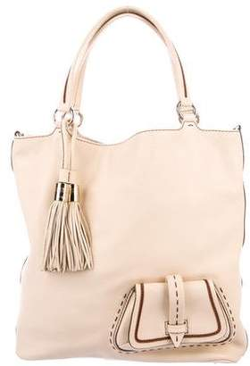 Lancel Convertible Leather Tote