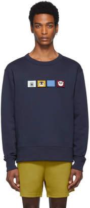 Acne Studios Navy Faircro Animal Face Sweatshirt