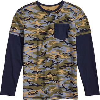 Epic Threads Little Boys Faux-Layer Camo-Print T-Shirt