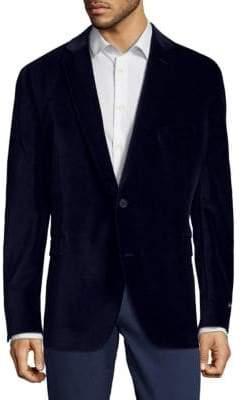 Saks Fifth Avenue Velvet Buttoned Sportcoat