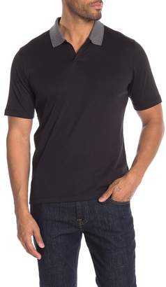 Raffi Ribbed Collar Polo