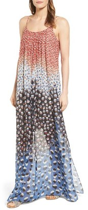 Petite Women's Nic+Zoe Mix Print Maxi Dress $188 thestylecure.com