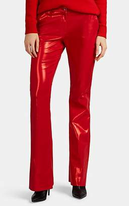 Pt01 Women's Cotton-Blend Lamé Flared Pants - Red