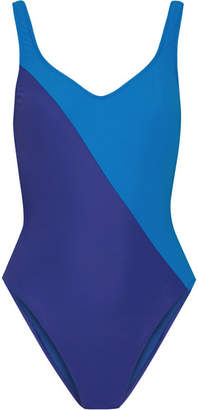 Harley Two-tone Swimsuit - Azure
