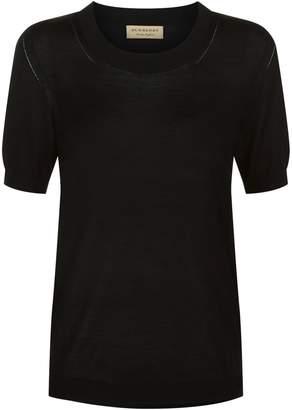 Burberry Silk-Cashmere T-Shirt