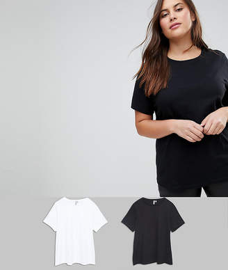 Asos DESIGN Curve ultimate crew neck t-shirt 2 pack
