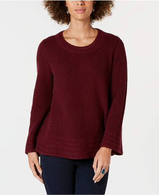 Style&Co. Style & Co Petite Scoop-Neck Sweater