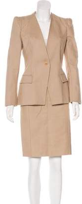 Givenchy Lace-Paneled Skirt Suit