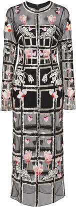 Temperley London Lola Crepe Dress With Organza Overlay